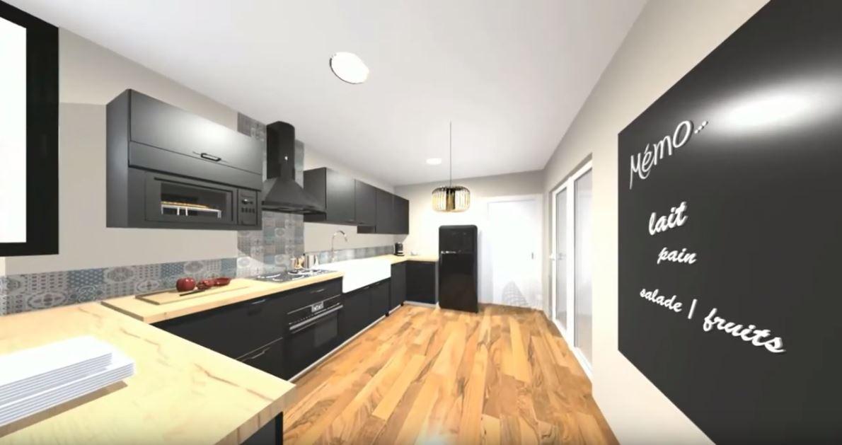 Vidéo 3 D d'une cuisine sur mesure